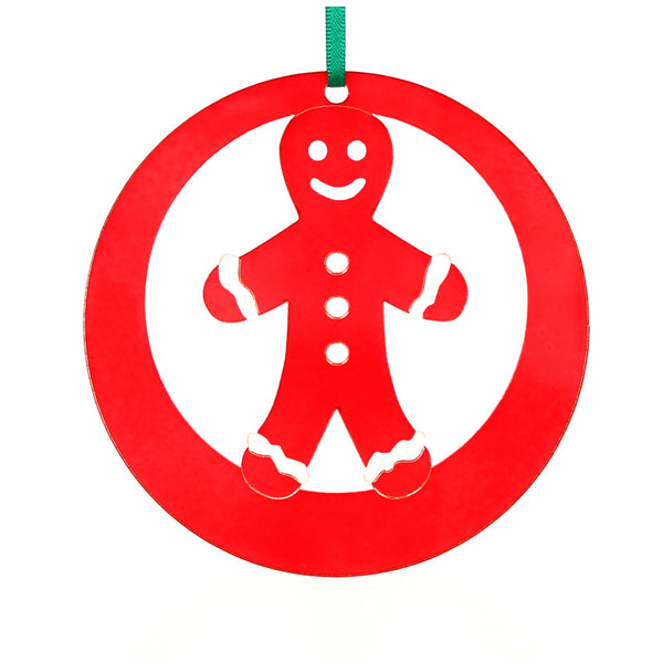 Gingerbread Boy Laser-Etched Ornament - Ballet Gift Shop