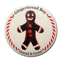 Load image into Gallery viewer, Gingerbread Boy (from Hansel & Gretel) Button / Magnet - Ballet Gift Shop