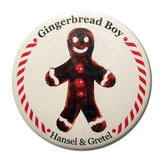 Gingerbread Boy (from Hansel & Gretel) Button/Magnet/Mirror - Ballet Gift Shop