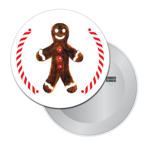 Gingerbread Boy (from Hansel & Gretel) Button/Magnet/Mirror