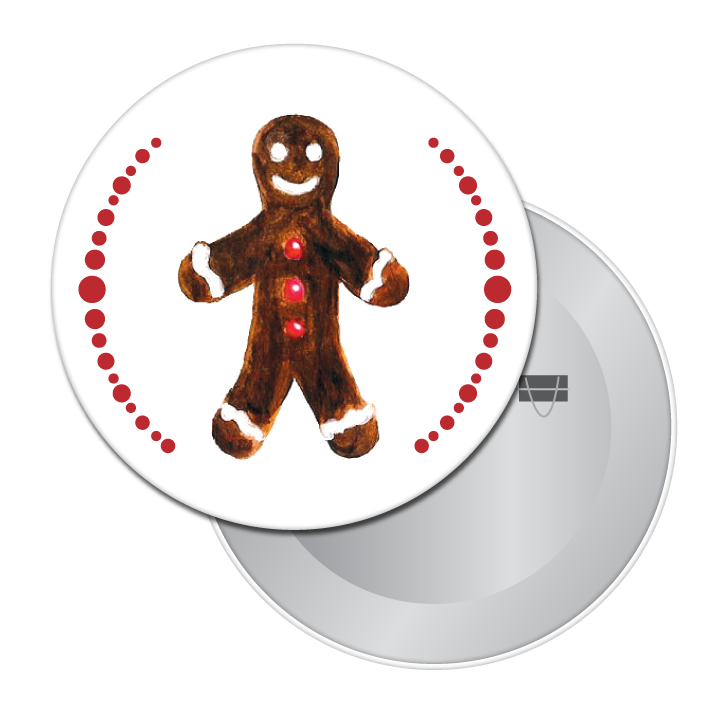 Gingerbread Boy (from Nutcracker) Button/Magnet/Mirror