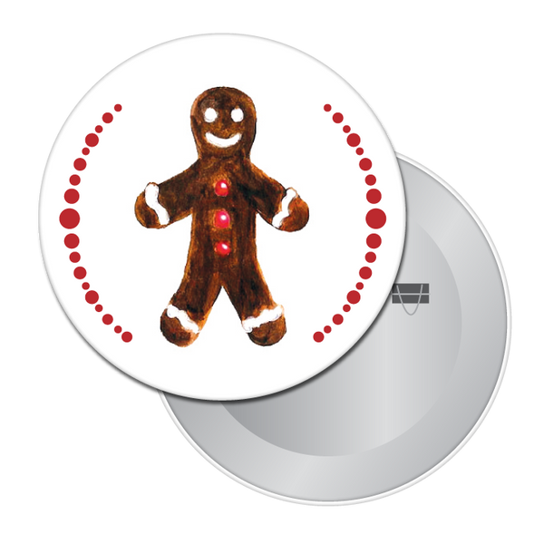 Gingerbread Boy (from Nutcracker) Button / Magnet