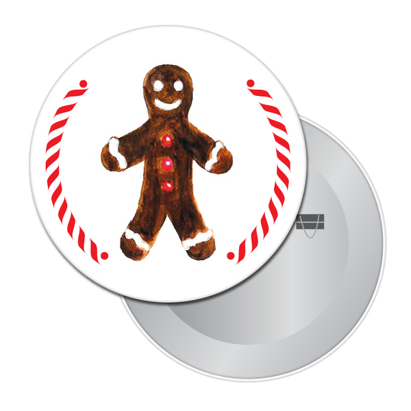 Gingerbread Boy (from Hansel & Gretel) Button / Magnet