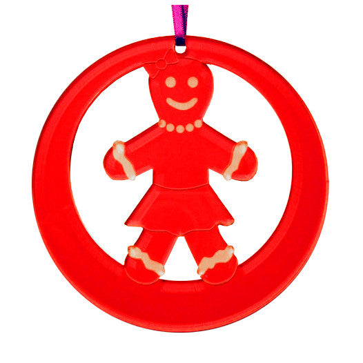 Gingerbread Girl Laser-Etched Ornament - Ballet Gift Shop