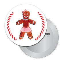 Load image into Gallery viewer, Gingerbread Girl (from Hansel & Gretel) Button/Magnet/Mirror