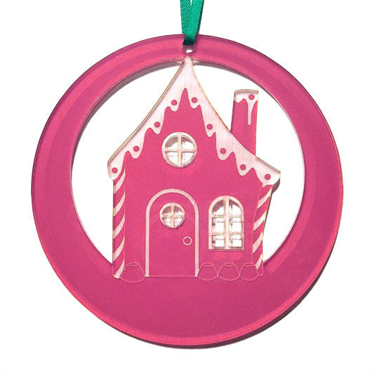 Gingerbread House Laser-Etched Ornament