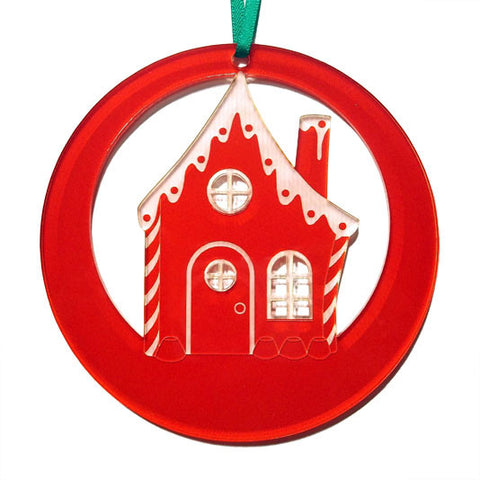 Gingerbread House Laser-Etched Ornament - Ballet Gift Shop
