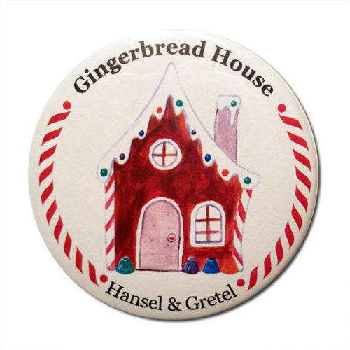 Gingerbread House Button/Magnet/Mirror - Ballet Gift Shop