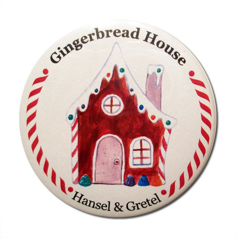 Gingerbread House Button / Magnet - Ballet Gift Shop