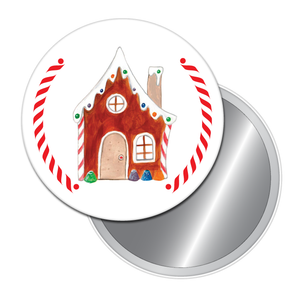 Gingerbread House Button/Magnet/Mirror