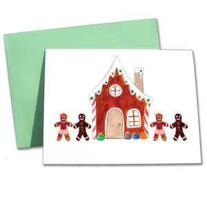 Gingerbread House Note Cards - Ballet Gift Shop