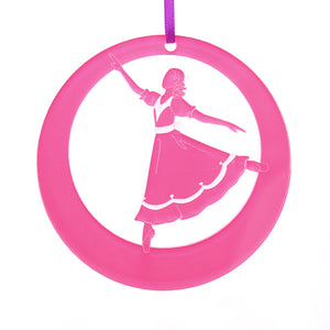 Girl at the Party Laser-Etched Ornament - Ballet Gift Shop