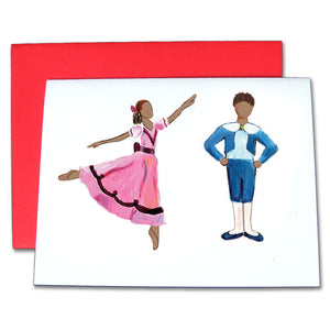 Girl & Boy at the Party (African-American) Note Cards - Ballet Gift Shop