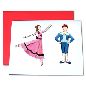 Girl & Boy at the Party Note Cards - Ballet Gift Shop