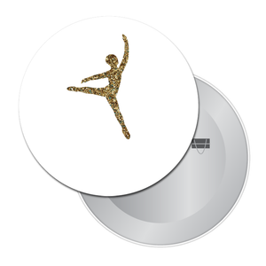 Glittery Gold Dancer Travel Mirror (Choose from 4 Dance Styles)