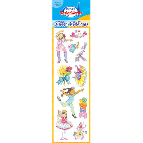 Glitter Ballet Sticker Sheets - 2 pack - Ballet Gift Shop