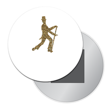 Load image into Gallery viewer, Glittery Gold Dancer Travel Mirror (Choose from 4 Dance Styles)
