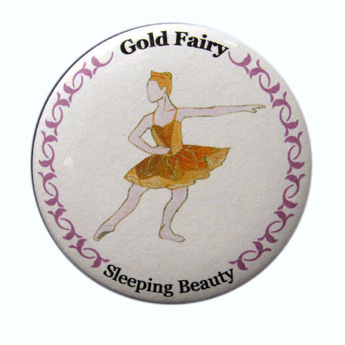 Gold Fairy Button / Magnet - Ballet Gift Shop