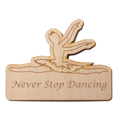 Grand Jete Ballerina Wooden Decal - Ballet Gift Shop