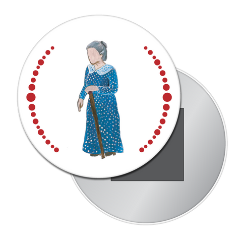 Grandmother Button / Magnet