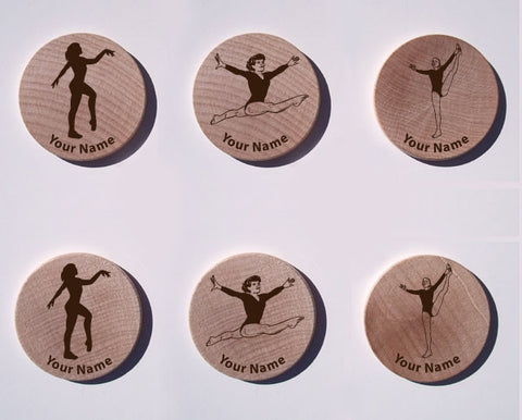 Women's Gymnastics Maple Magnet Set of 6