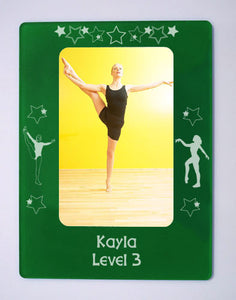 "Gymnastics 4"" x 6"" Magnetic Photo Frame (Choose from 2 designs) - Ballet Gift Shop"