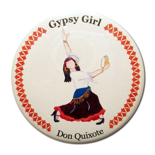 Gypsy Girl Button / Magnet - Ballet Gift Shop
