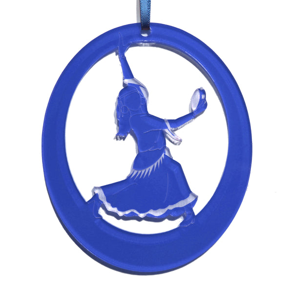 Gypsy Girl Laser-Etched Ornament