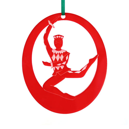 Harlequin Doll Laser-Etched Ornament - Ballet Gift Shop