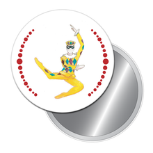 Load image into Gallery viewer, Harlequin Doll Button/Magnet/Mirror