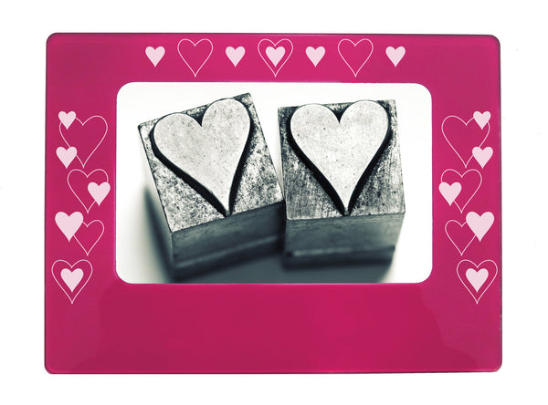 "All Hearts 4"" x 6"" Magnetic Photo Frame (Horizontal/Landscape) - Ballet Gift Shop"
