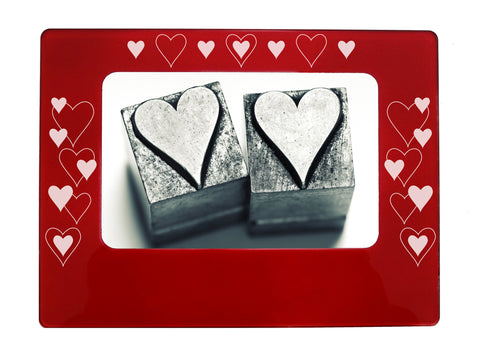 "All Hearts 4"" x 6"" Magnetic Photo Frame (Horizontal/Landscape)"