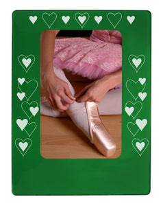 "All Hearts 4"" x 6"" Magnetic Photo Frame (Vertical/Portrait) - Ballet Gift Shop"