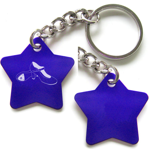 Dance-Themed Key Chain - Star (Choose from 6 designs)