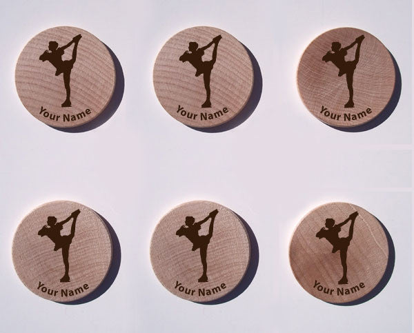 Figure Skating Maple Magnet Set of 6 - Ballet Gift Shop