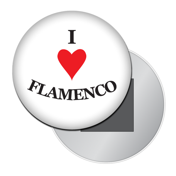 I Love Flamenco Button / Magnet