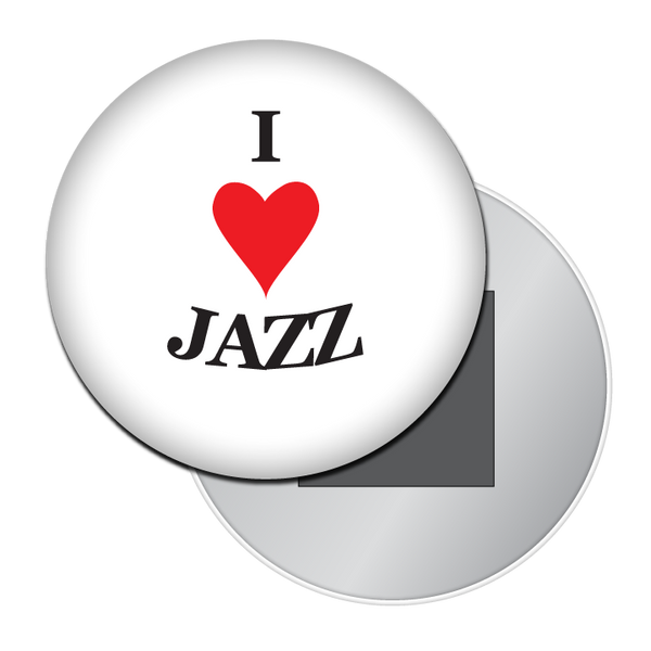 I Love Jazz Button / Magnet