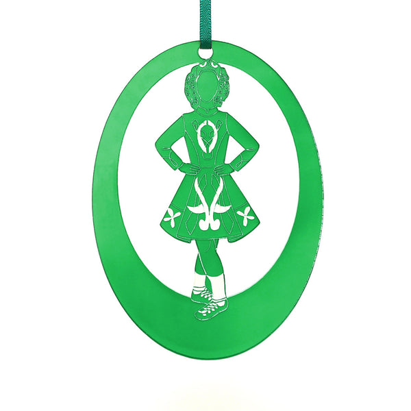 Irish Step Dancer Girl Laser-Etched Ornament - Ballet Gift Shop