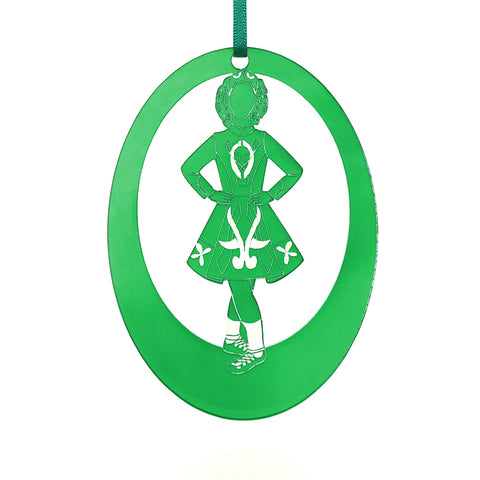 Irish Step Dancer Girl Laser-Etched Ornament