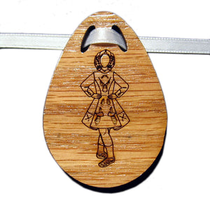 Irish Step Dancer Girl Bouquet Tag