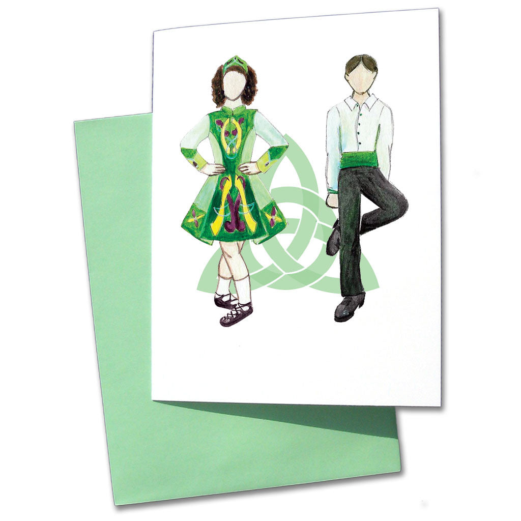Irish Step Dancers Note Cards - Ballet Gift Shop