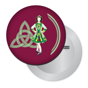 Irish Step Dancer Girl Button/Magnet/Mirror