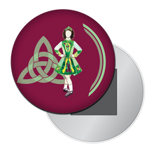 Load image into Gallery viewer, Irish Step Dancer Girl Button/Magnet/Mirror