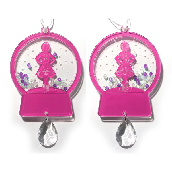 Irish Step Dancer Girl Snow Globe Ornament