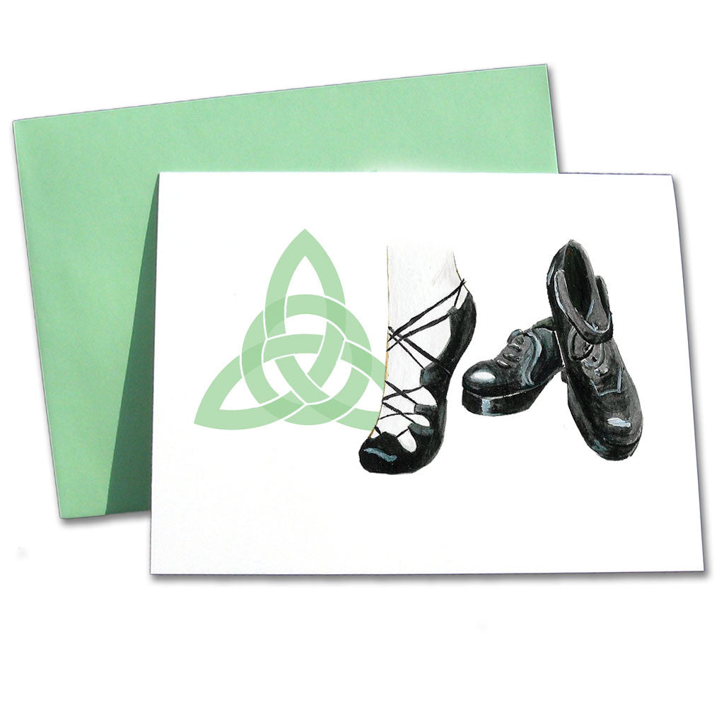 Irish Step Dance Shoes Note Cards - Ballet Gift Shop
