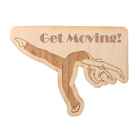 Jazz Layout Wooden Decal - Ballet Gift Shop