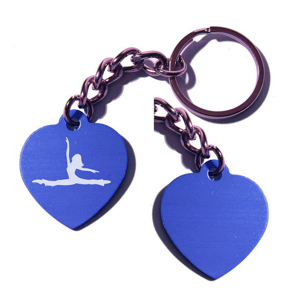 Dance-Themed Key Chain - Heart (Choose from 6 designs)