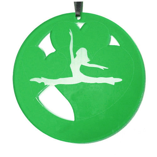 Jazz Valentine Laser-Etched Ornament - Ballet Gift Shop