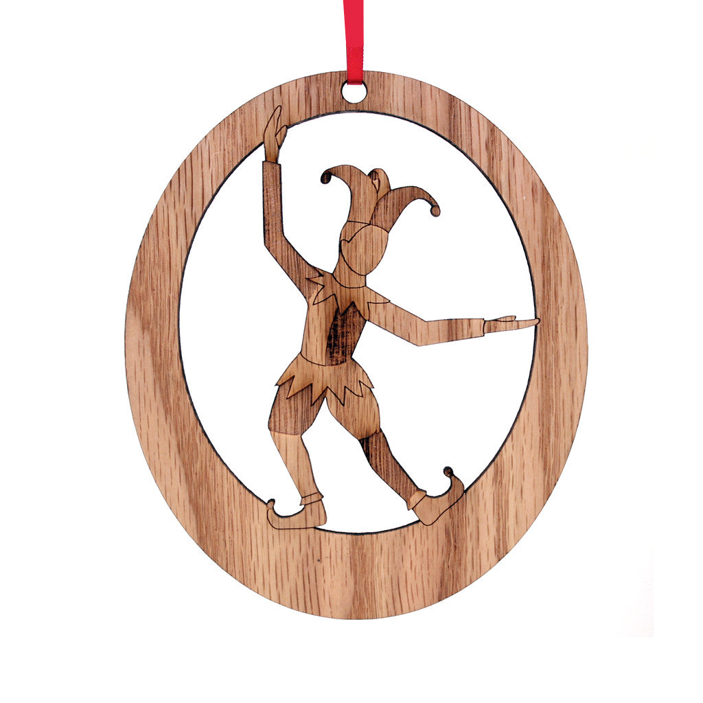 Court Jester Laser-Etched Ornament