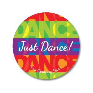 "Just Dance! 3""x3"" Circle Full-Color Magnets (Choose from 3 colors) - Ballet Gift Shop"